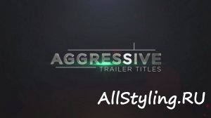 Aggressive Trailer Titles v1 - After Effects Template