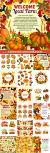 Autumn sale vector background, banner template for discount promotion design