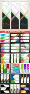 Set of  abstract colorful banner background with copy space