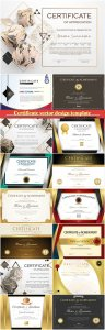 Certificate and vector diploma design template # 40