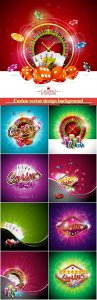 Casino vector design background