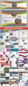 Banner abstract vector template for design,  business, education, advertisement # 6