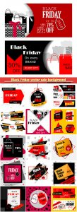 Black Friday vector sale background and promotion offer banner