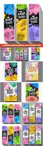 Fastfood colorful modern vector banners set # 2
