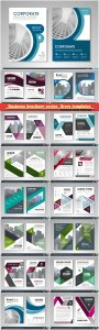 Business brochure vector, flyers templates, report cover design # 88