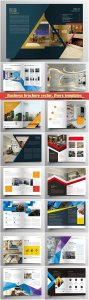 Business brochure vector, flyers templates, report cover design # 89