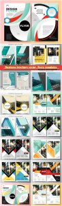 Business brochure vector, flyers templates, report cover design # 91