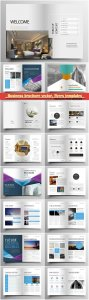 Business brochure vector, flyers templates, report cover design # 98