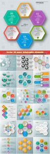 Vector 3d paper infographic elements