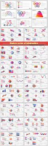Modern vector of infographics for presentations templates for banner