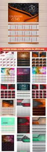 Calendar design vector template for 2018 year