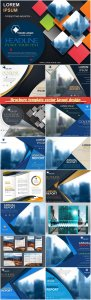 Brochure template vector layout design, corporate business annual report, magazine, flyer mockup # 114