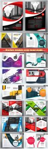 Brochure template vector layout design, corporate business annual report, magazine, flyer mockup # 134