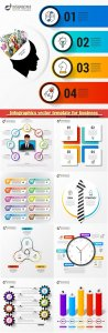Infographics vector template for business presentations or information banner # 67