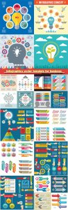 Infographics vector template for business presentations or information banner # 68