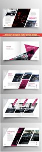Brochure template vector layout design, corporate business annual report, magazine, flyer mockup # 185