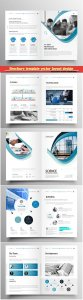 Brochure template vector layout design, corporate business annual report, magazine, flyer mockup # 178