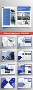 Brochure template vector layout design, corporate business annual report, magazine, flyer mockup # 187