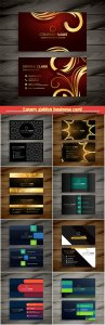 Luxury golden business card  vector design