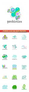 Probiotics vector logo design illustration