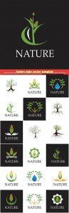 Nature logo vector template