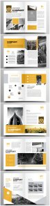 Brochure template vector layout design, corporate business annual report, magazine, flyer mockup # 198