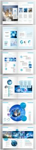 Brochure template vector layout design, corporate business annual report, magazine, flyer mockup # 200