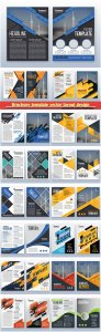 Brochure template vector layout design, corporate business annual report, magazine, flyer mockup # 211