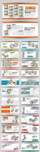 Set of banners for web and advertisement print out, vector horizontal flyer handout design # 2