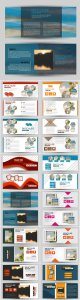 Set of banners for web and advertisement print out, vector horizontal flyer handout design # 4