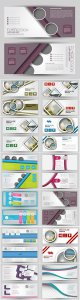 Set of banners for web and advertisement print out, vector horizontal flyer handout design # 3