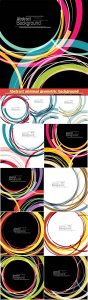 Abstract minimal geometric round circle shapes design background