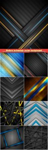 Abstract modern technology vector background