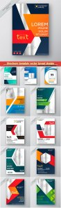 Brochure template vector layout design, corporate business annual report, magazine, flyer mockup # 216