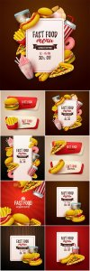 Fastfood vector background
