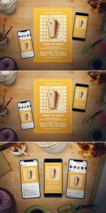 CreativeMarket Simple Halloween Flyer Set 3022220
