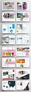 Brochure template vector layout design, corporate business annual report, magazine, flyer mockup # 238