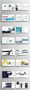 Brochure template vector layout design, corporate business annual report, magazine, flyer mockup # 237