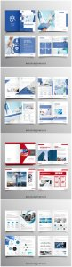 Brochure template vector layout design, corporate business annual report, magazine, flyer mockup # 242