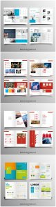 Brochure template vector layout design, corporate business annual report, magazine, flyer mockup # 245