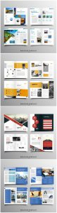 Brochure template vector layout design, corporate business annual report, magazine, flyer mockup # 244
