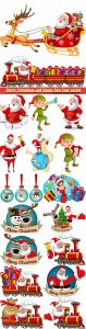 Merry Christmas and Happy New Year vector design # 16