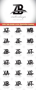 Letter logo design vector illustration template # 5
