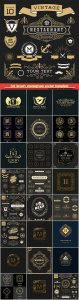 Set luxury monogram vector template, logos, badges, symbols # 14