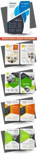 Business brochure corporate vector template, magazine flyer mockup # 5