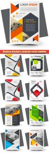 Business brochure corporate vector template, magazine flyer mockup # 18