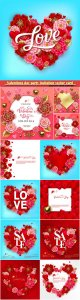 Valentines day party invitation vector card # 23