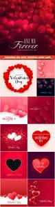 Valentines day party invitation vector card # 20