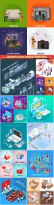Isometric vector template illustration # 21