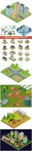 Isometric vector template illustration # 24
